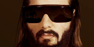 Sebastien Tellier pimping the shades as if Jesus was the Terminator