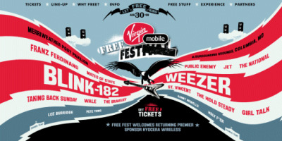 The Virgin FreeFest brings bands like --- to Baltimore -- for free!