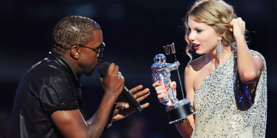 Kanye's drama queen antics rained on Taylor's parade